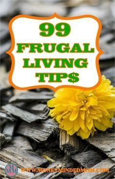 Frugal Living Tips~ Here are 99 frugal living tips that will save you money without going to extremes.