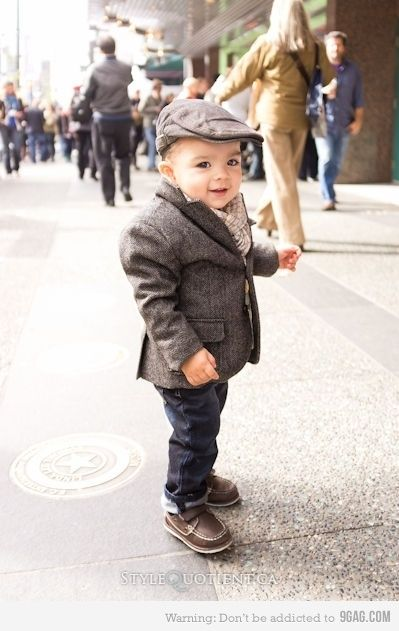 Little boys dressed as old men... one of my major weaknesses. SO cute