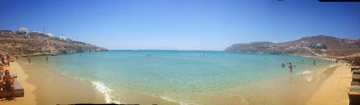 Kalo Livadi Beach in Mykonos Island Greece ! Heaven on earth !!!!!!!!
