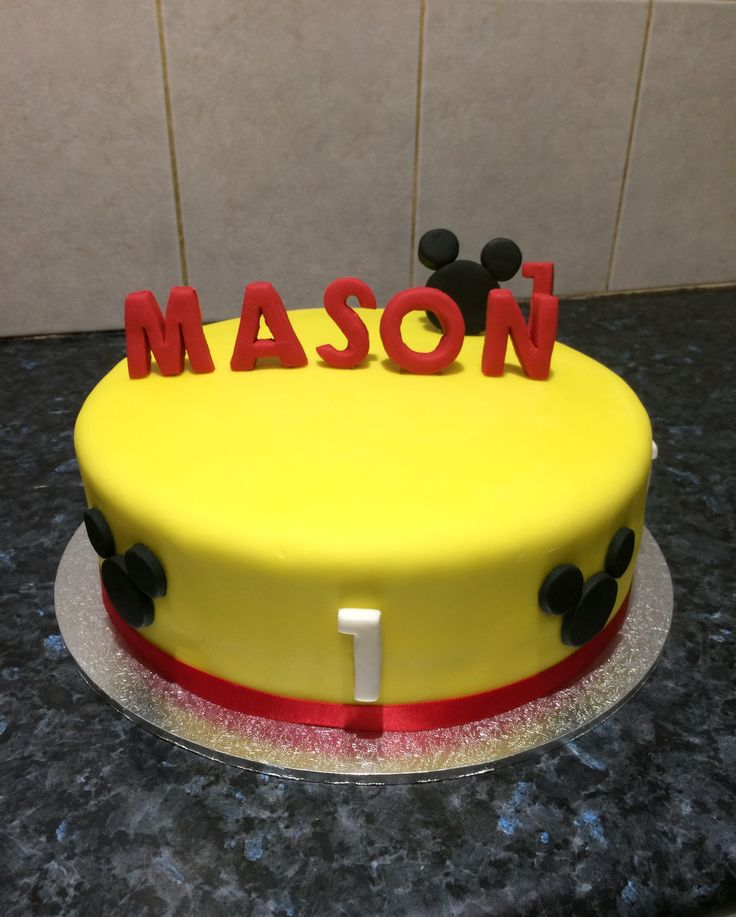 Mickey Mouse first birthday cake.