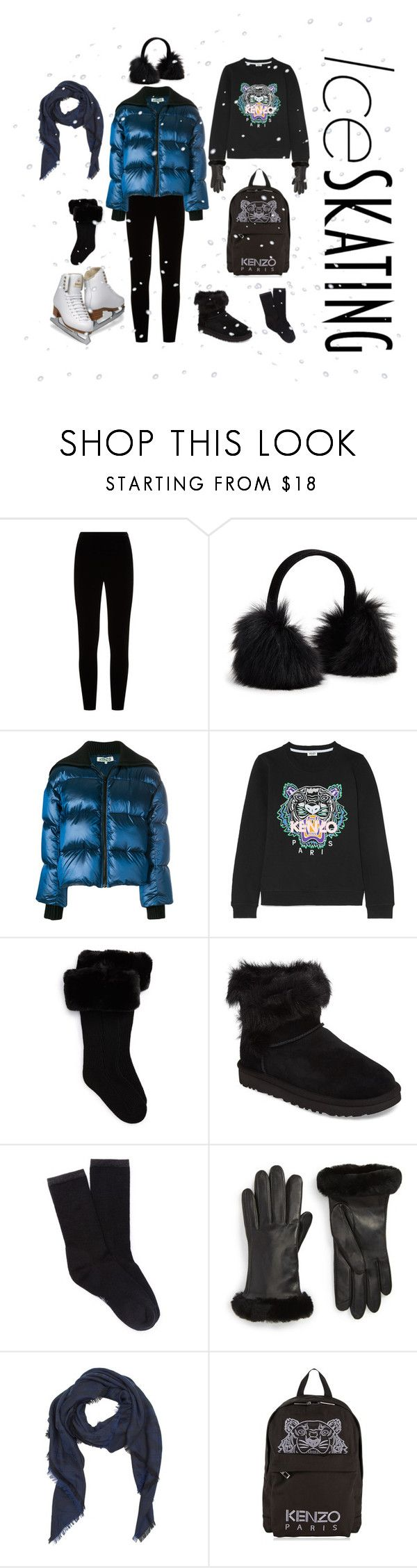 """""""Skate Date: Ice Skating Outfit"""" by claudiamarzo ❤ liked on Polyvore featuring Eileen Fisher, Surell, Kenzo, UGG, Smartwool, UGG Collection and iceskatingoutfit"""