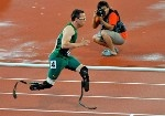 The Blade Runner Oscar Pistorius will be running in the Olympics for South Africa in the 400m and the 4x400m