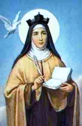 St. Theresa of Avila (1515-1582), known in religion as 'St. Teresa of Jesus,' was a prominent mystic, Carmelite nun, and writer of the Carmelite Reformation. She was a reformer of the Carmelite Order and is considered to be, along with St. John of the Cross, a founder of the Duscalced Carmelites. She was the first woman to be named Doctor of the Church.