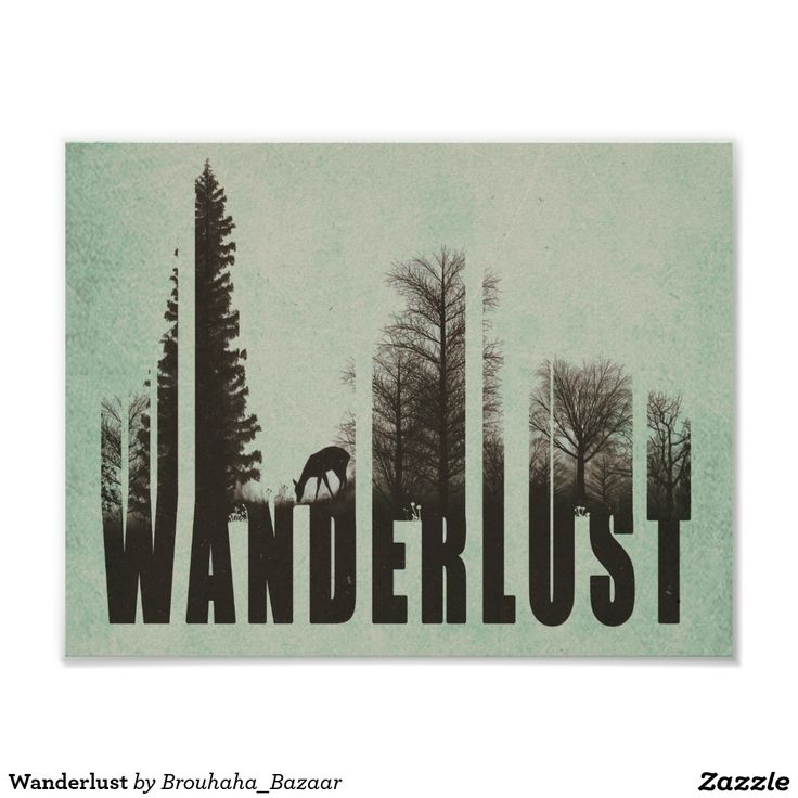 Wanderlust Poster | Zazzle.com – A road home: Traveling Away