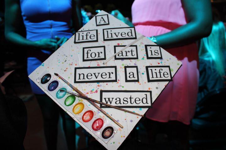 Cool Art Major graduation cap #graduation #art #happymoment