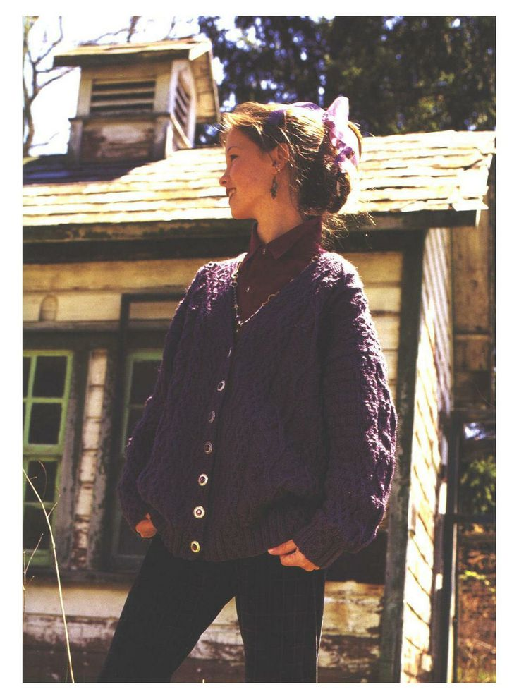 Grapevine Cardigan  [bulky cabled]  - Alice Starmore - Stillwater