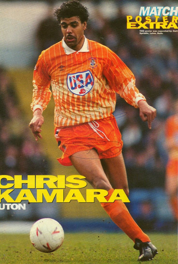 Chris Kamara of Luton Town in 1991.