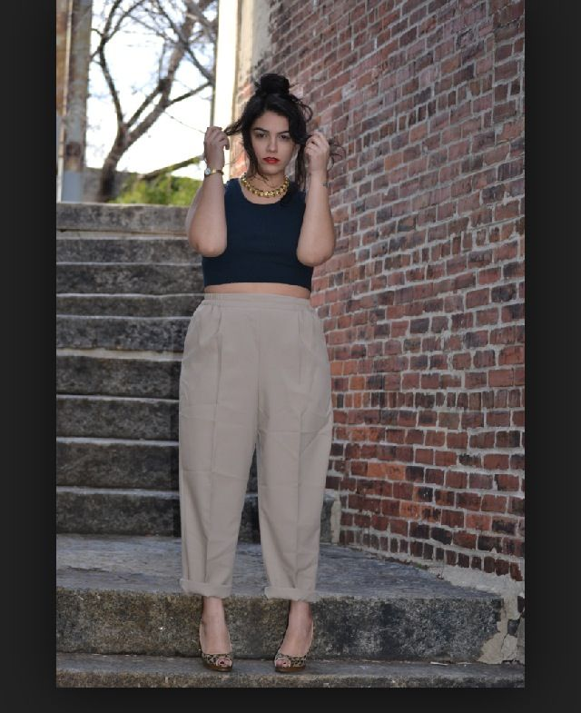 Oversized pants nicely worn ❤️