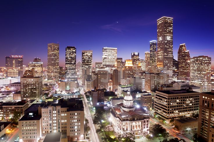 The Downtown Houston skyline is magical at night.