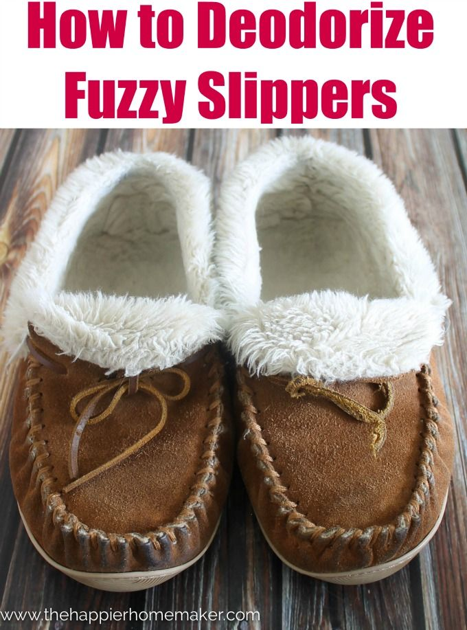 Are your cozy winter slippers starting to stink? This easy and fast tutorial shows you how to Deodorize fuzzy slippers, no crazy steps or ingredient required!