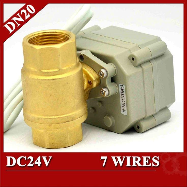 """31.17$ Buy now - """"3/4"""""""" DC24V 7 <b>wires</b> Electric ball valve, <b>DN20</b> ..."""