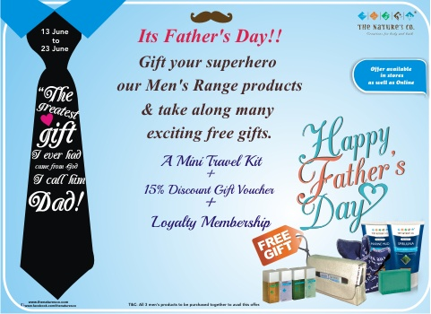 On Father's Day, Gift your super hero something more than he deserves....