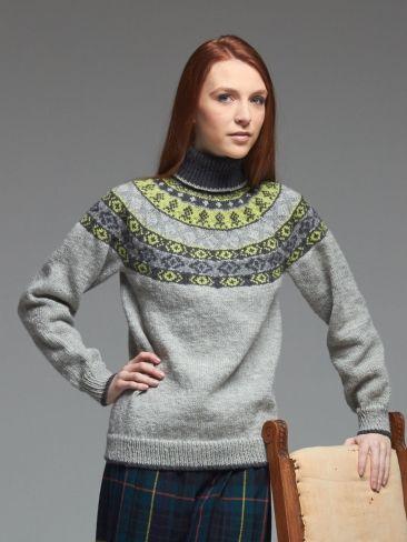 Woman's Fair Isle Yoke Sweater | Yarn | Free Knitting Patterns | Crochet Patterns | Yarnspirations