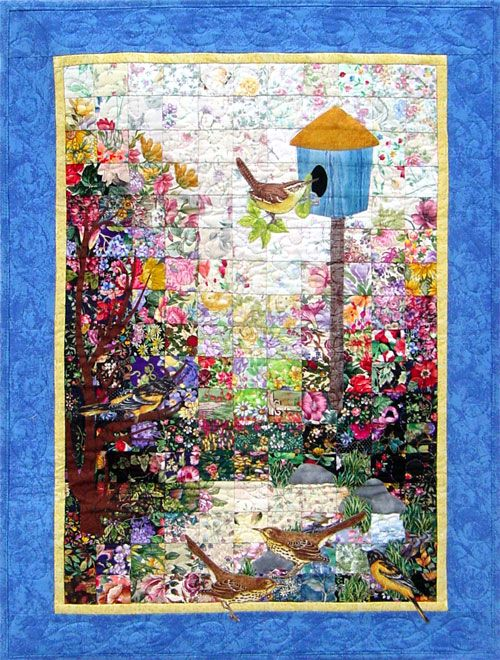 Birdhouse Watercolor Quilt Kit