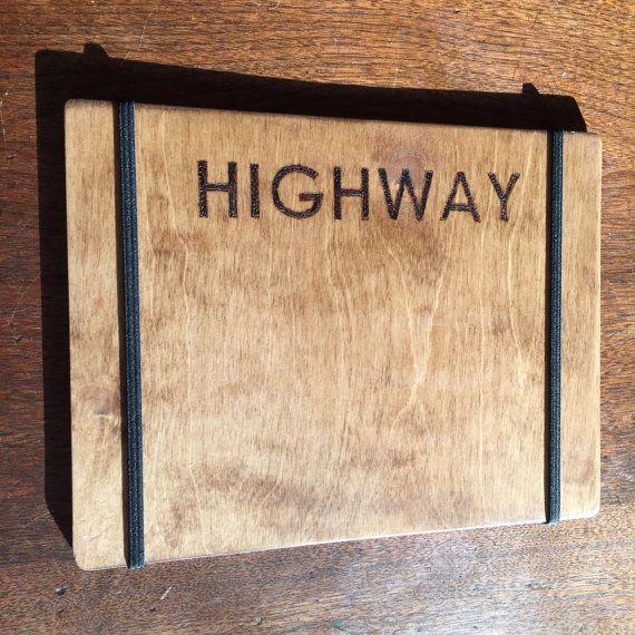 Handmade Birch Wood Menu Board with Elastic by LeelanauWoodworking
