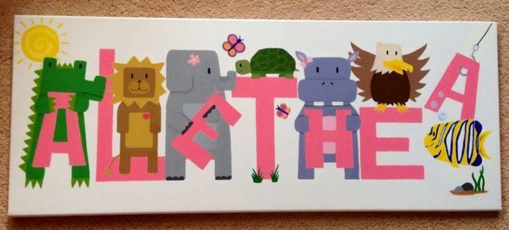 Children's animal name art