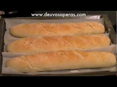 ▶ Como hacer Pan Baguette Casero Fácil - Recetas de Masas - YouTube