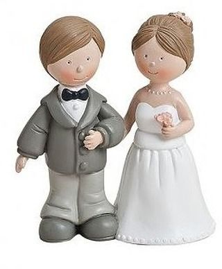 WeddingBride and Groom Wedding Cake Topper/Decoration Ornament Table Ornament in 2Varieties Variante 1