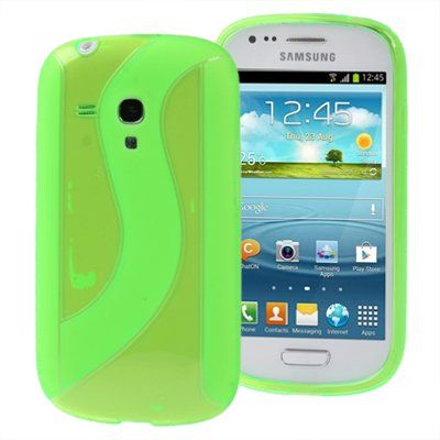S Line TPU Protection Case for Samsung Galaxy SIII mini / i8190 (Green)
