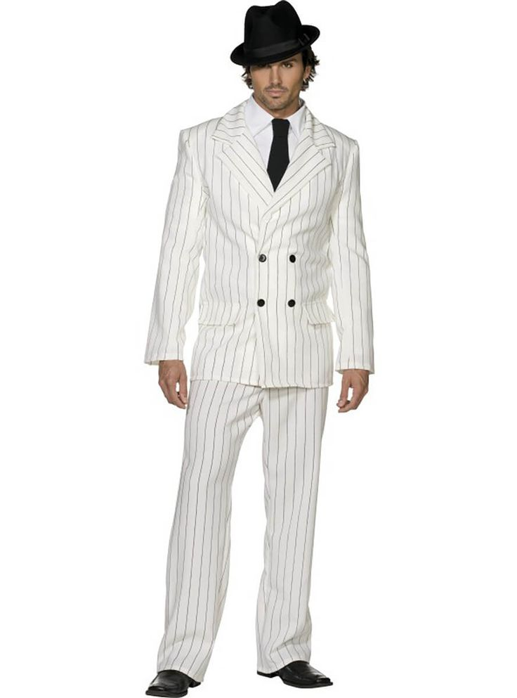 Disfraz de gánster traje blanco de los años 20 para hombre