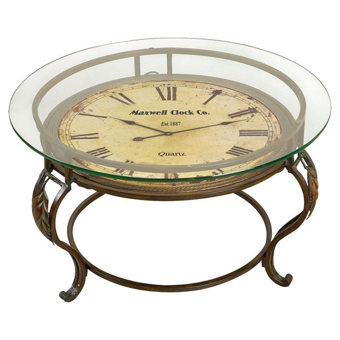 17 best ideas about clock table on pinterest round for Clock coffee table round