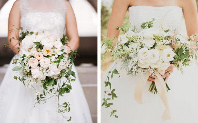 Элегантный каскадный букет невесты