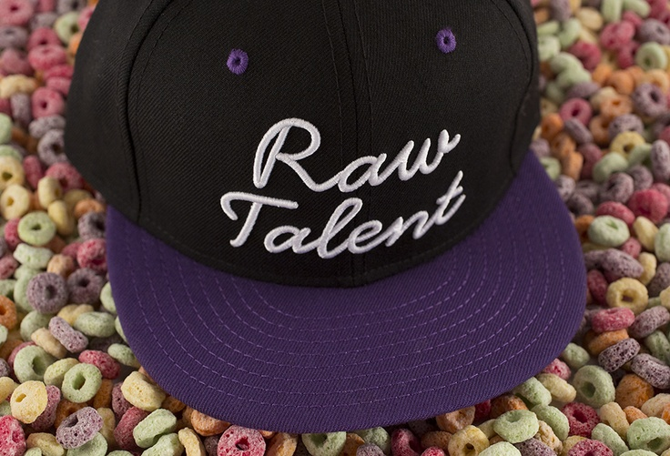 """Raw Talent"" Snapback – Purple / Black 