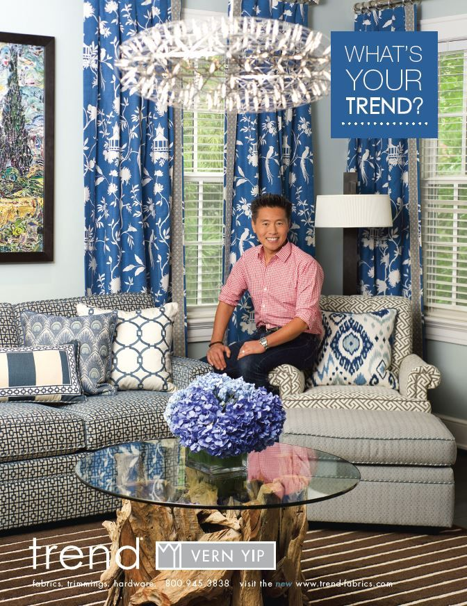 Vern Yip for Trend advertisement.