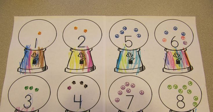 Gumball Machines - Numbers     Gumball Machine - Colors with pom poms  My preschool kiddos are working on the letter G g this week. I cr...