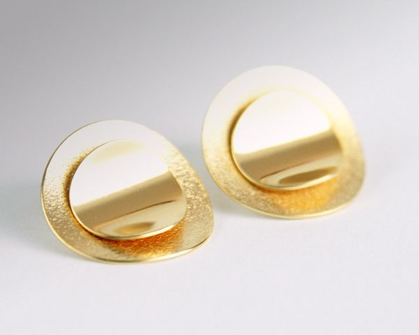 Silver earrings, goldplated