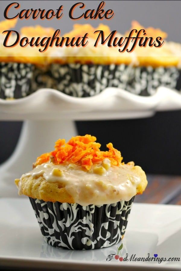 Carrot Cake Doughnut Muffins With Mascarpone Jam Filling Orange