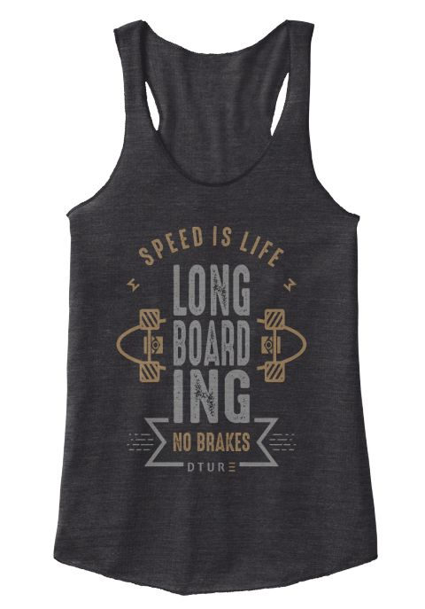 Speec Is Life Long Board Ing No Brakes Eco Black T-Shirt Front