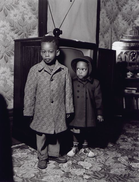 Henry Clay Anderson - Anderson Collection: Aunt Hattie Anderson's Children With a Television // see more on the video Separate But Equal http://www.youtube.com/watch?v=ZSYNhFyEHoo