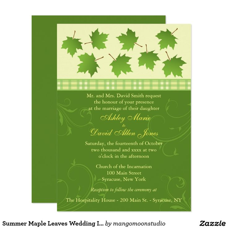8 best Summer Maple Leaves Wedding Collection images on Pinterest ...
