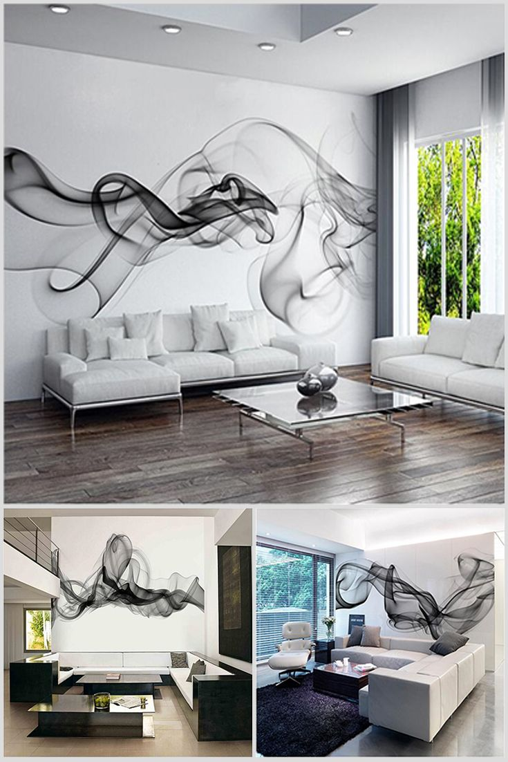 3D photo wallpaper is custom with image the cloud of smoke, made in a minimalist style. They are well suited for a bedroom or living room. Price $13.10 #Design #Home #Amazing