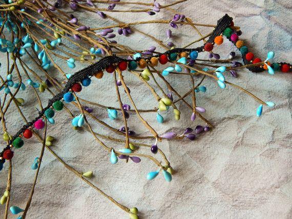 10% OFF kleurrijke Pom Pom Trim Indische weefsel Trim door Craftise