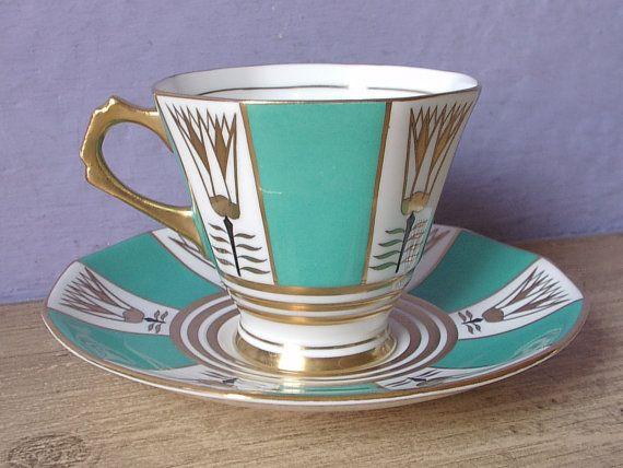 Vintage 1950's Mid Century Modern Teacup and by ShoponSherman