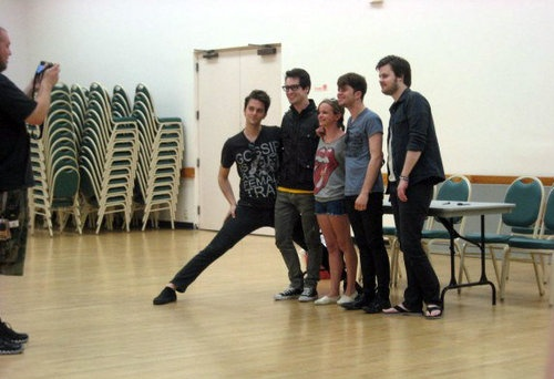 Oh you know... Just Brendon Urie doing a little stretch.. Yupp.