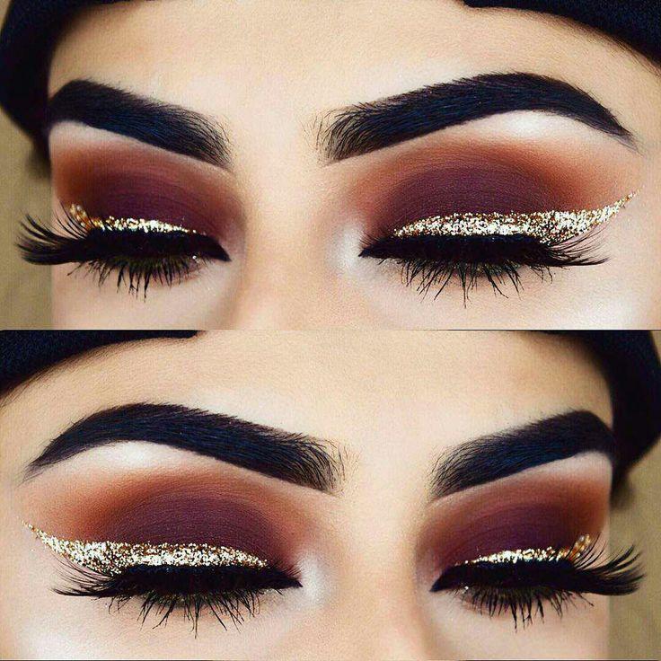 Glitter eyeliner matte eyeshadow #eyeshadowsideas