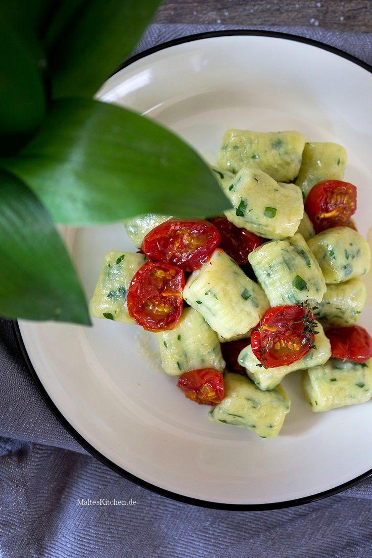 Bärlauch-Gnocchi mit Kirschtomaten aus dem Ofen.   malteskitchen.de