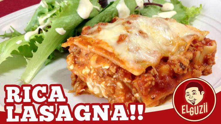 Rica Lasagna! (Lasaña) - Receta Fácil - El Guzii (+lista de reproducción)