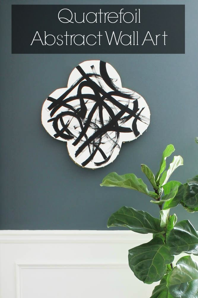 How fun! Make your own abstract wall art in a quatrefoil shape!