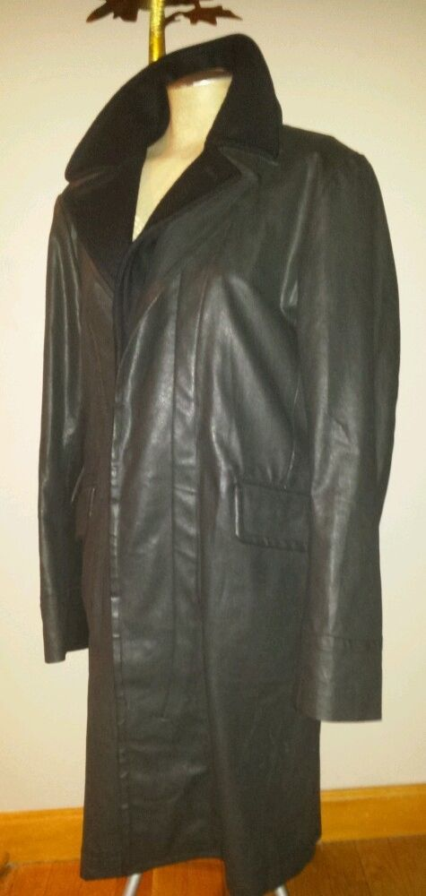 RARE G-STAR WAXED CANVAS LONG MENS DRESS COAT CHARCOAL XL  42 / 44 TRENCH 33/01  #GStar #Trench