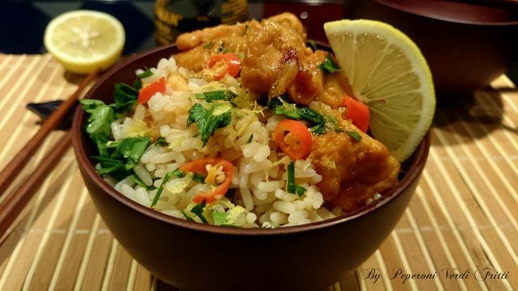 Cari lettori, oggi vi propongo il riso alle erbe con pollo al limone. Un piatto che si prepara in poco tempo, con ingredienti che probabilmente avete già,