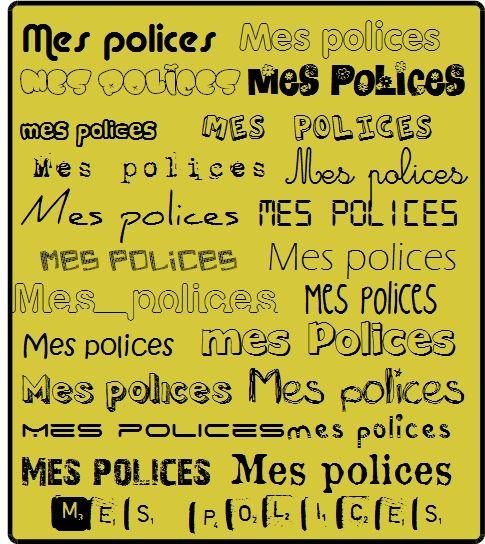 Polices d'écriture                                                                                                                                                     Plus