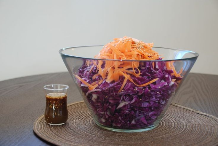 Learn how to make this simple, seasonal and healthy shredded cabbage salad. The bright purple will add the perfect pop of color to your plate!