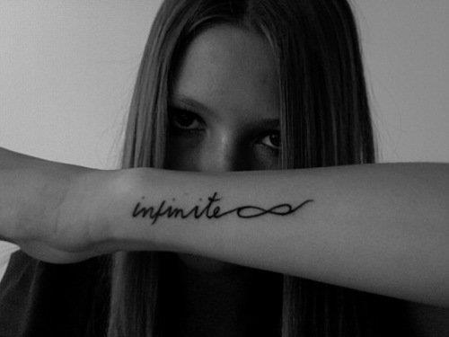 InfiniteInfinity Signs, Infinity Tattoo, Fonts Style, Typography Tattoo, A Tattoo, Infinity Symbols, Rings Fingers Tattoo, Arm Tattoo, Tattoo Ink