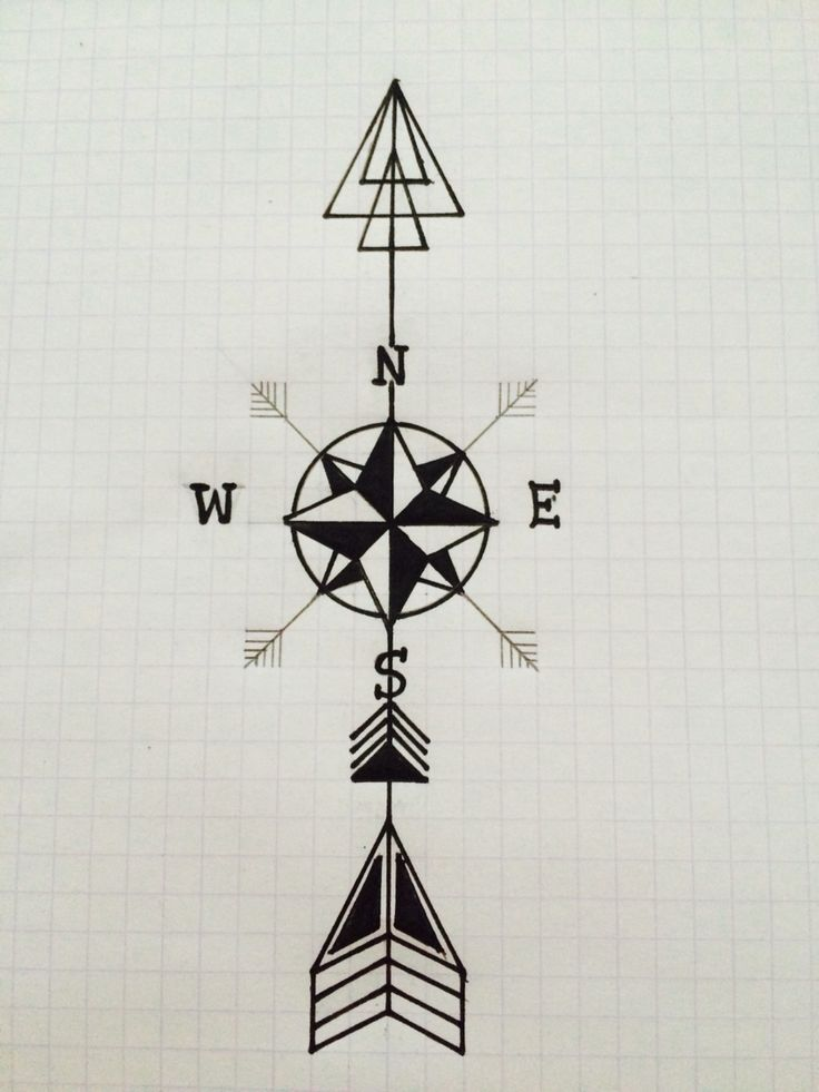 25+ best Arrow compass tattoo ideas on Pinterest