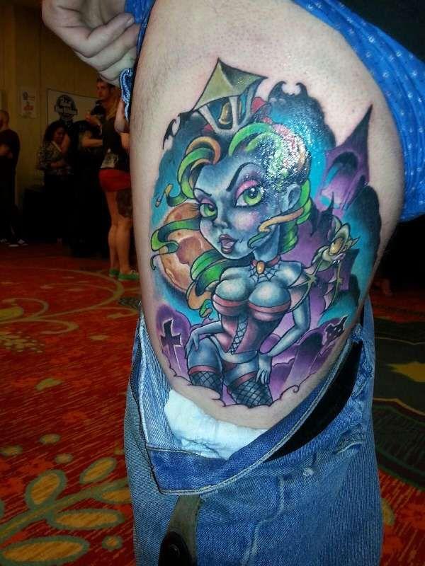 New school pin up tattoo google search tattoo body art for Tattoo school listings