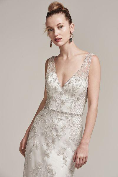 Vestidos de novia con pedrería 2017: Deslumbra a todos invitados el día de tu boda Image: 24